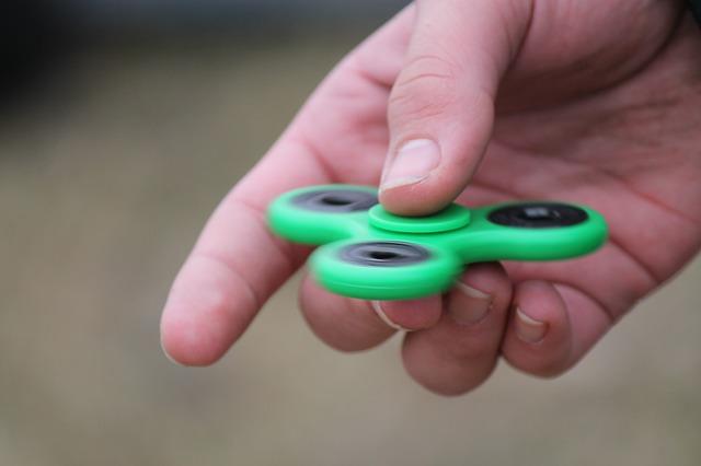 zelený spinner